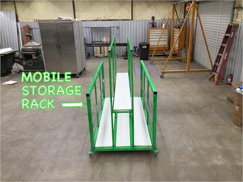 Sheetmetal Storage Rack on Wheels - Metalwork Monday
