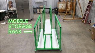 Sheetmetal Storage Rack on Wheels CNC Plasma Table