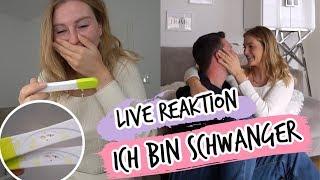 LIVE REAKTION VON TOBI UND MIR! - ICH BIN SCHWANGER!