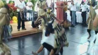 Terraba Indians of Southern Costa Rica tribal dance.