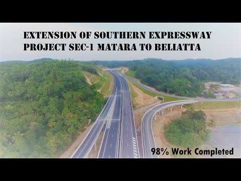 Extension Of Southern Expressway Project Sec-1 Matara To Beliatta At November 2019 (98% Completed)