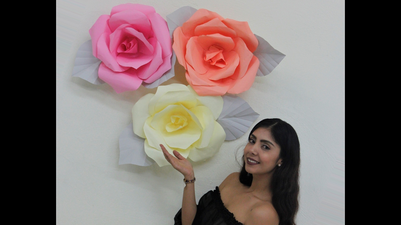 Rosas Gigantes De Papel Youtube