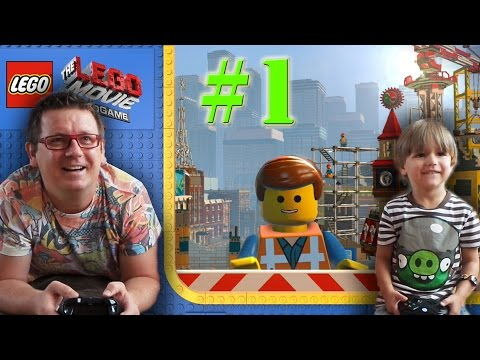 Having Fun playing The LEGO MOVIE VIDEO GAME: gaming video