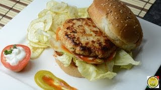 Chicken Burger - By VahChef @ VahRehVah.com