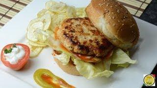 Chicken Burger - By Vahchef @ Vahrehvah.com