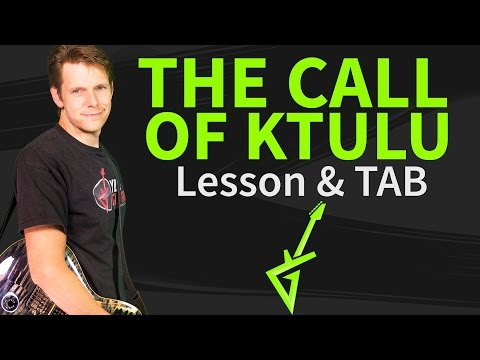 How To Play The Call Of Ktulu Guitar Lesson & TAB #1 Metallica Tutorial