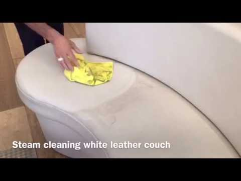 Steam cleaning white leather couch YouTube