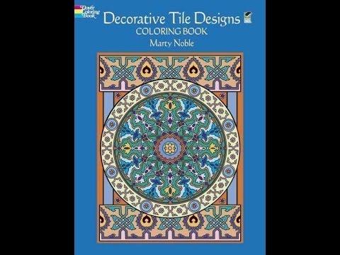 Flip Through Dover Publications Decorative Tile Designs Coloring Book