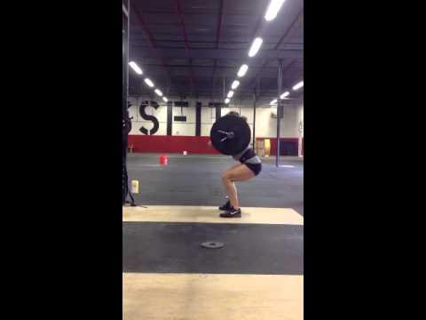185 squat clean