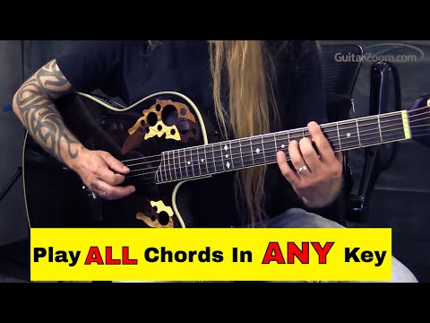 Steve Stine Guitar Lesson - (Fretboard Chord Trick) Play All Guitar Chords In Every Key