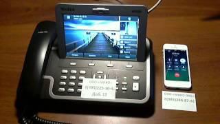 Демонстрация умной маршрутизации вызова в панели телефонии 1С