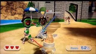 Wii Sports Resort - Swordplay Showdown ALL LEVELS