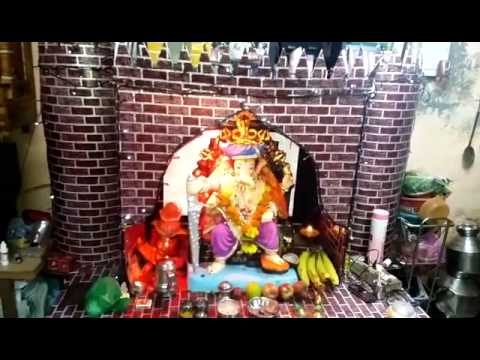 Ganesh Festival At Home Decoration Youtube