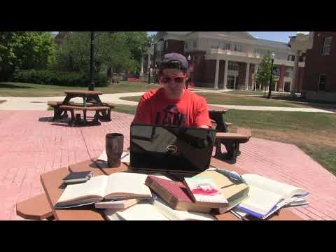 Bucknell University New Student Orientation 2020:  Ben Checks Out Library Materials