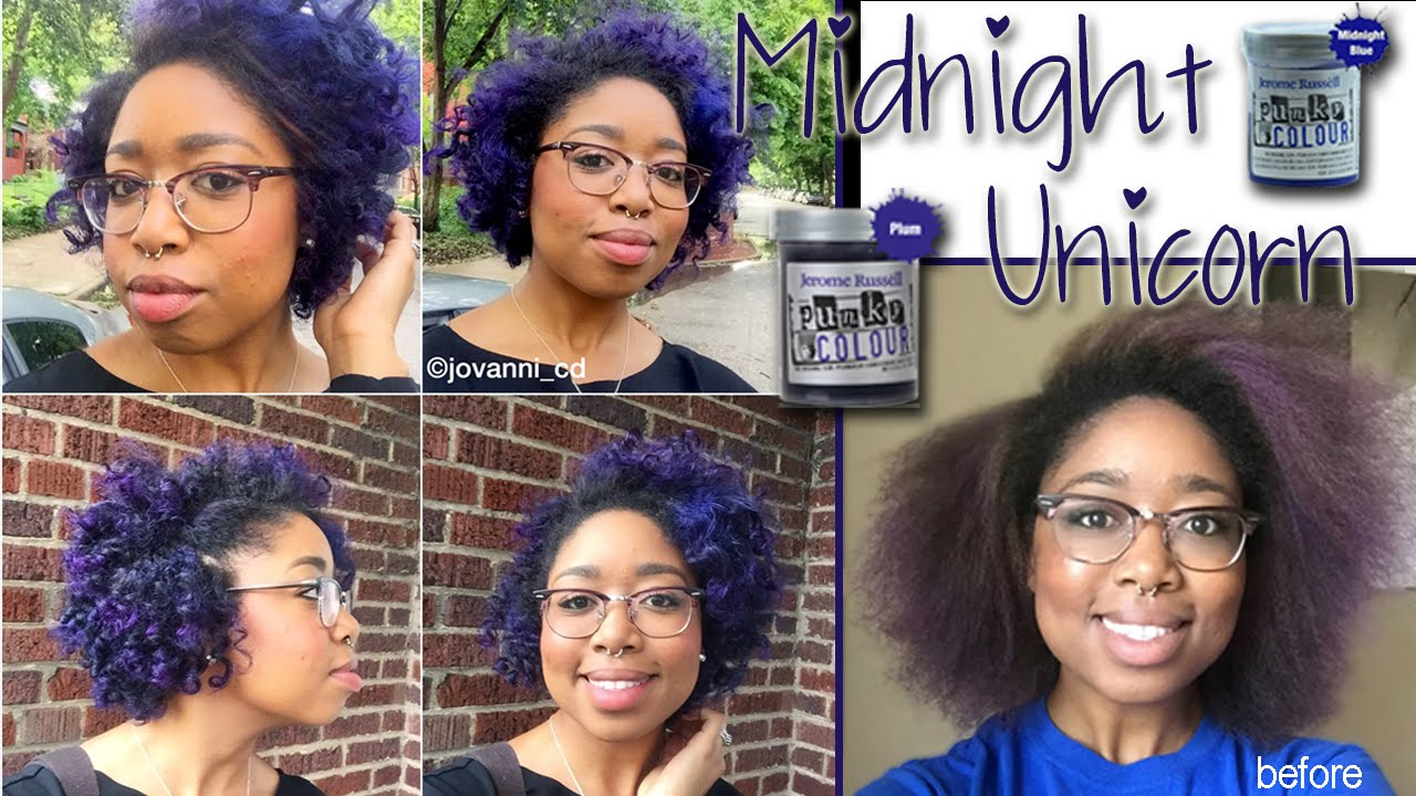 Jerome Russell Hair Color Midnight Unicorn Natural Hair