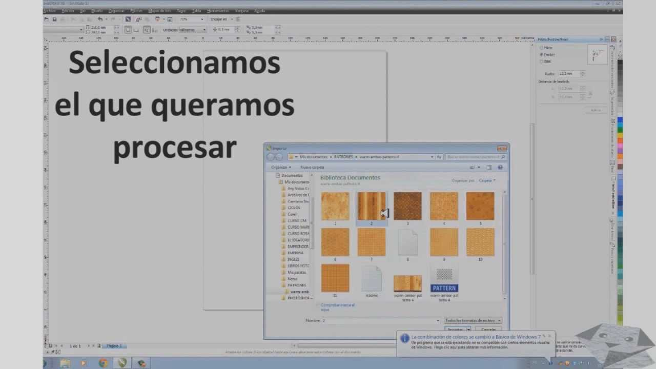 Crear patrones en Corel Draw X6 - YouTube