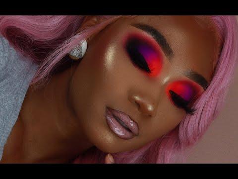 Lavender Hair + Smoky Neon Makeup Look | Celie Hair | MakeupTiffanyJ