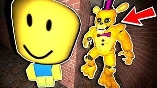 Roblox Noob Tries Scary Fredbear Maze Run! - Fnaf Gmod - Garry's Mod