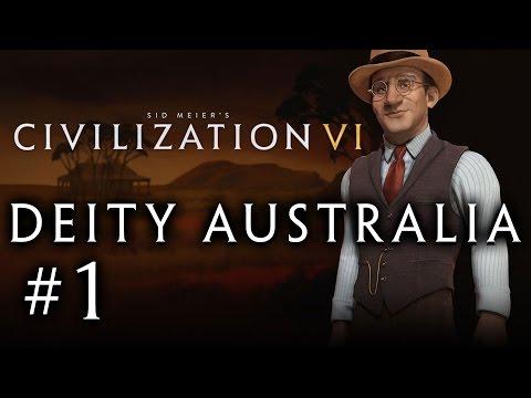 Let's Play: Civilization VI - Deity Australia! - Part 1