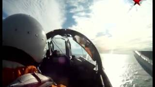 Mikoyan MiG-29 KUB Fulcrum Landing on Aircraft Carrier INS Vikramaditya - Cockpit view