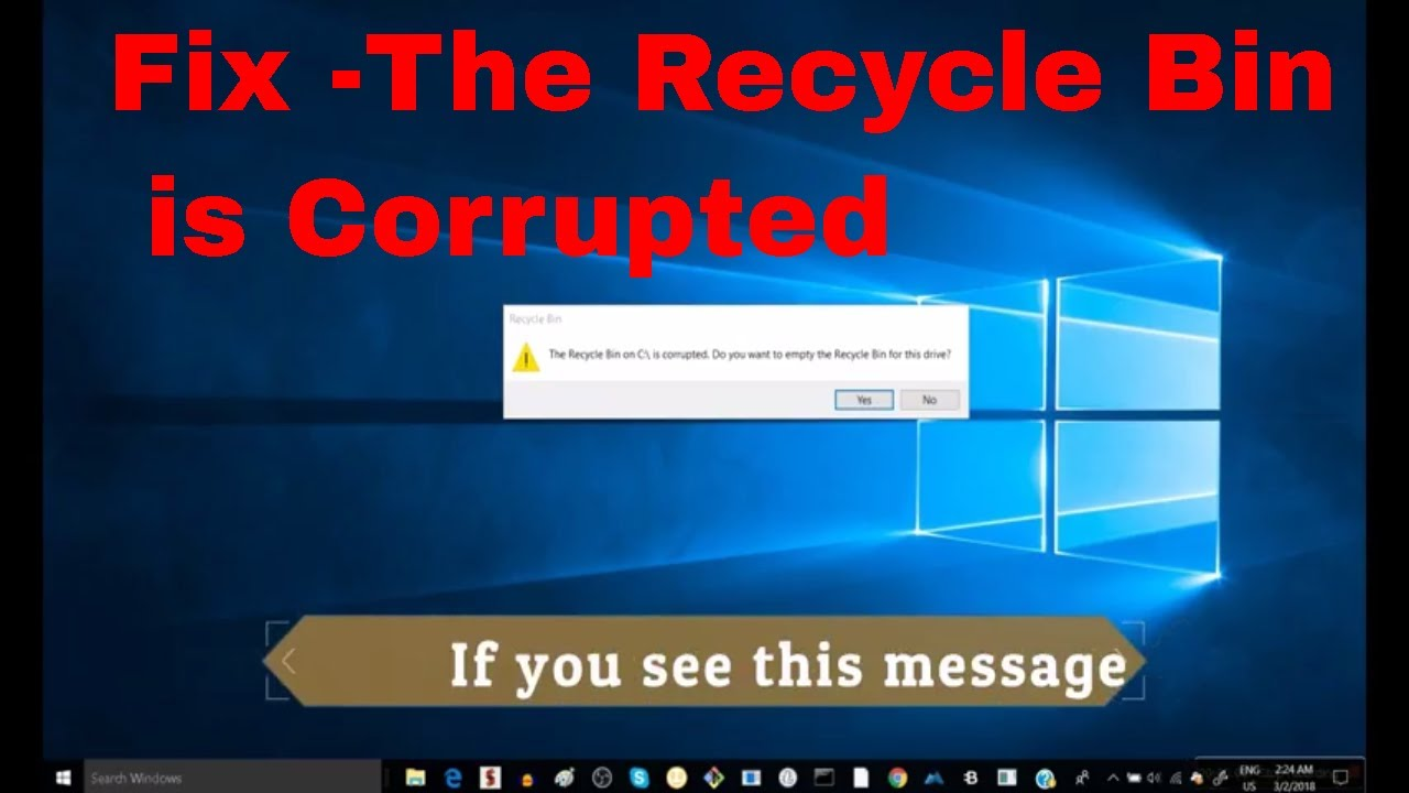 How to Fix Corrupted Recycle Bin in Windows 10(fix your