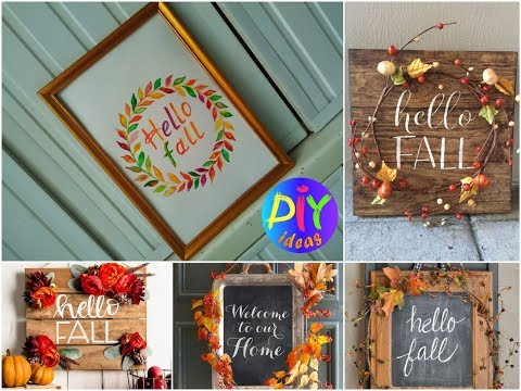 DIY Fall Room Decor Ideas - Easy Fall Craft Tutorial
