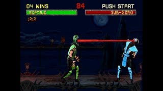 Mortal Kombat 2 Challenger (Hack) Arcade - REPTILE 【TAS】