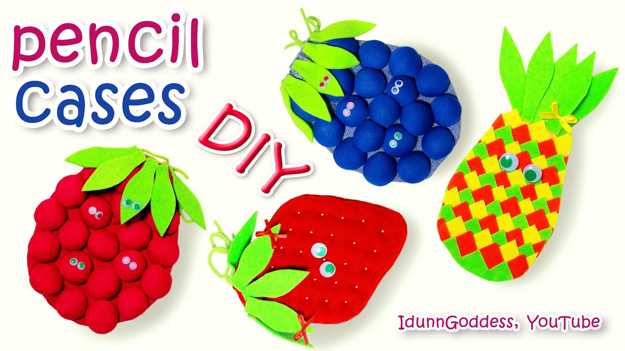 Decorate Pencil Case Diy Fruit Pencil Cases Out Of T Shirts How To Make A Pencil Case