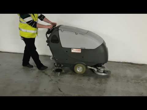 Nilfisk BA651 scrubber dryer demo