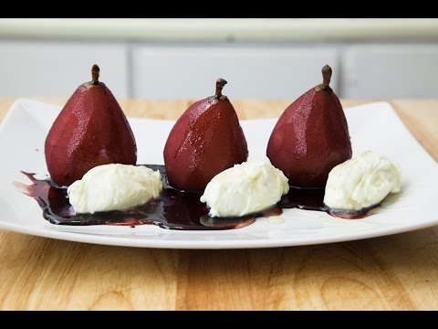 PORT POACHED PEARS
