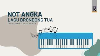Gambar cover Not Pianika - lagu Brondong Tua siti badriah