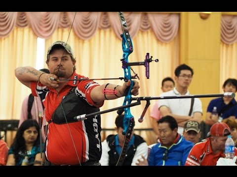 Recurve Men Bronze Medal Match: Ellison (USA) vs Valladont ...