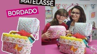 DICAS DE ARTESANATO – Necessaire box