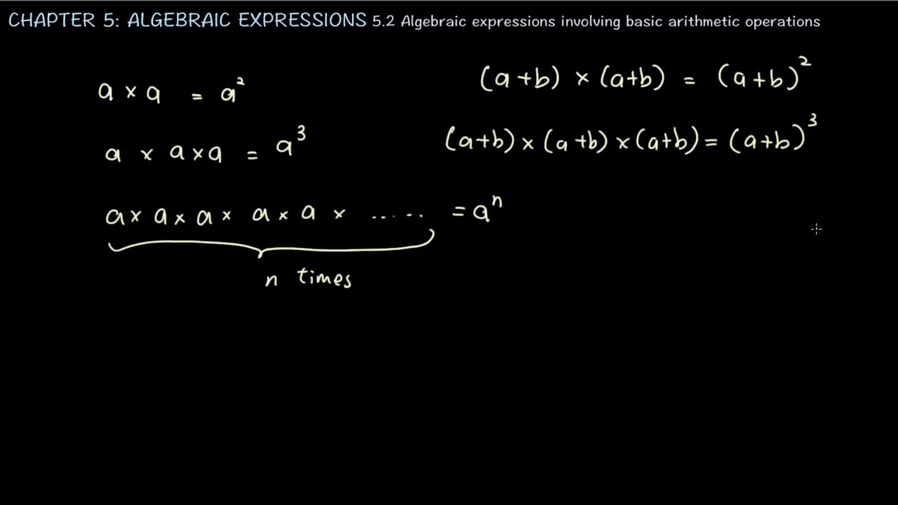 5.2 EN: Algebraic Expressions Involving Basic Arithmetic Operations ...