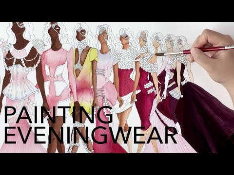 Fashion Illustration Tutorial: Painting Multiple Figures