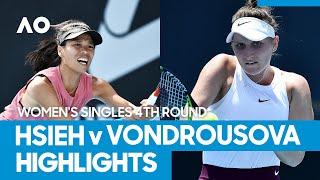 Su-Wei Hsieh vs Marketa Vondrousova Match Highlights (4R) | Australian Open 2021