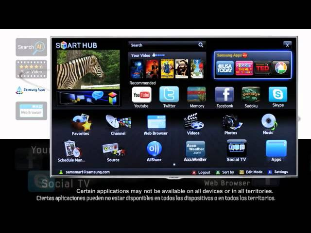 Samsung Smart TV - Smart Hub Travel Video