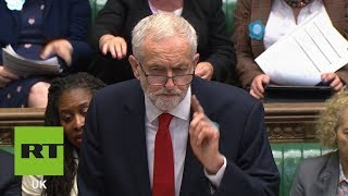 Jeremy Corbyn urges Theresa May & her Tories to stop arms sales to Saudi Arabia at #PMQs