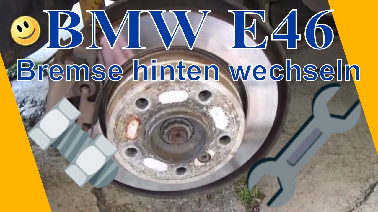 diy bremsscheiben hinten wechseln bmw e46 318ci youtube. Black Bedroom Furniture Sets. Home Design Ideas