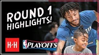 Derrick Rose VINTAGE Full ROUND 1 Highlights vs Houston Rockets | All GAMES - 2018 Playoffs