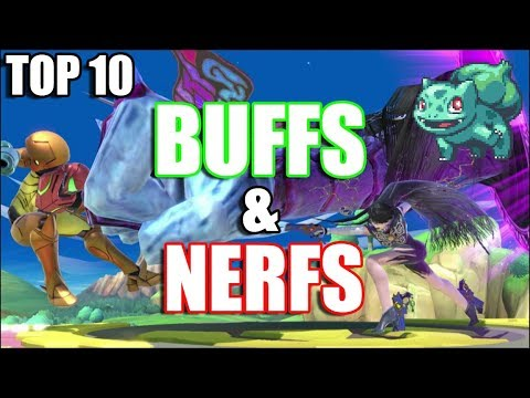 Top 10 BUFFS and NERFS in Super Smash Bros Ultimate