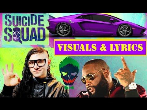 Skrillex Rick Ross Purple Lamborghini Visuals Lyrics Youtube