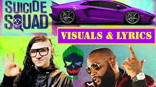 Skrillex & Rick Ross - Purple Lamborghini VISUALS & LYRICS
