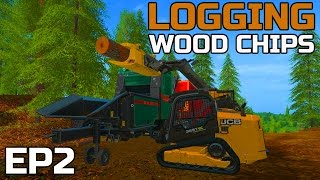 FARMING SIMULATOR 2017 | LOGGING | HAULING WOOD CHIPS AWAY | JCB