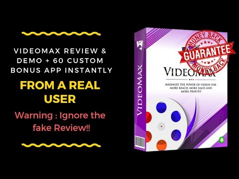 VideoMax Review & Bonus From Real User Only-Ignore the fake VideoMax Review. http://bit.ly/2ZGeOXD