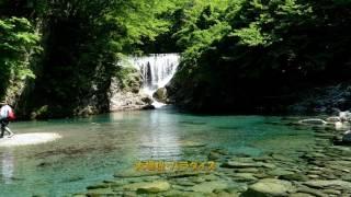 うらたんざわ渓流釣場 万緑の釣り景色 フライフィッシング、テンカラ 2017・5・23    (4K)