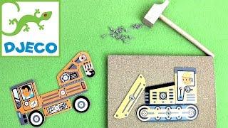 Развивающие рабочие машинки Джеко (Djeco) - Игровой набор аппликация