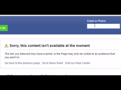 How to fix 'Sorry, this content isn't available at the moment' #Facebook  warning