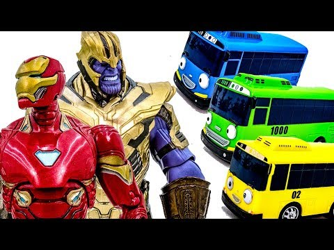 marvel-thanos-vs-iron-man~!-tayo-bus-is-having-fun~-lets-stop-him-superhero-toy-#toymarvel