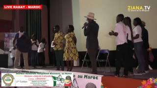 LIVE RABAT - MAROC. ACOM, Journée culturelle 2016: représentation du mariage coutumier congolais